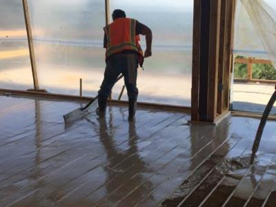 Gypsum Flooring For Radiant Heat