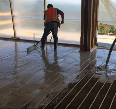 gypsum floor radiant heat